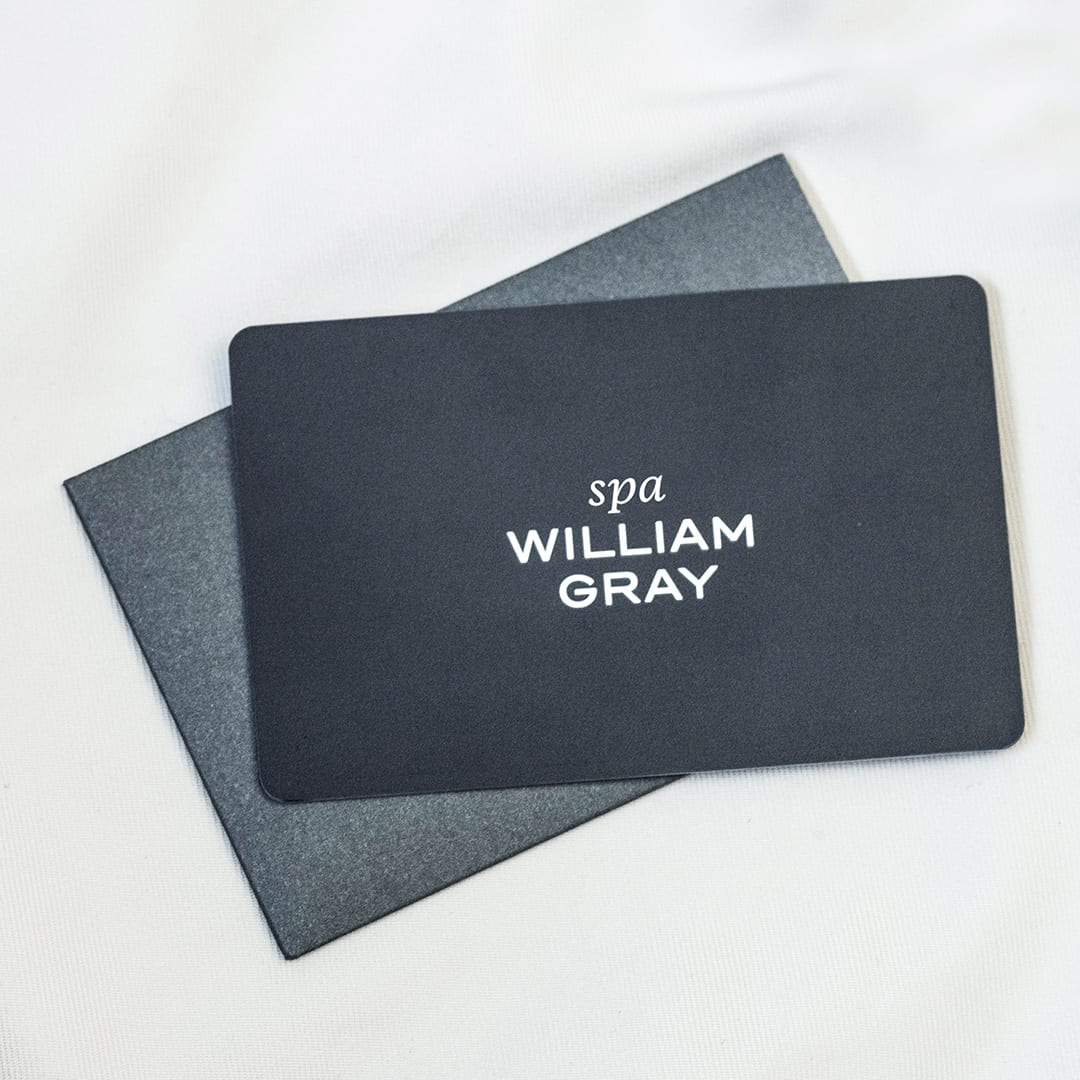 Carte cadeau noire du Spa William Gray