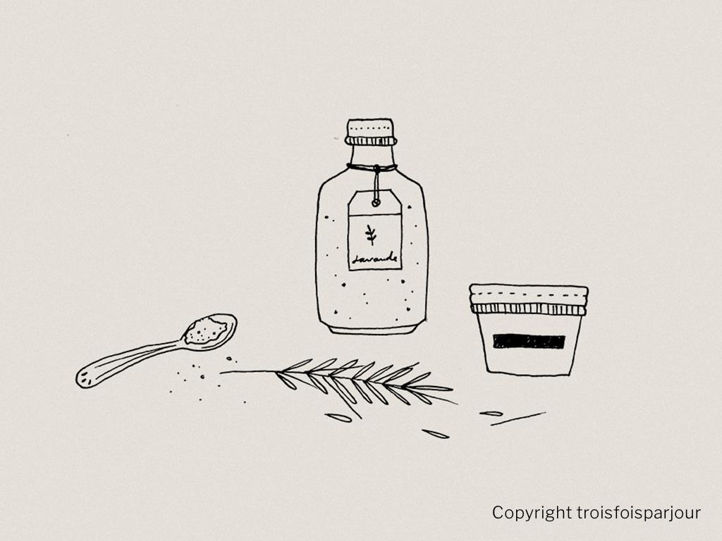 Illustration de soins pour le bain