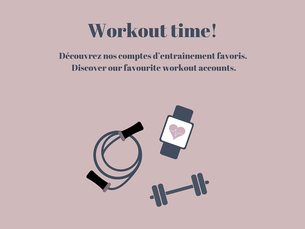Workout illustration with a smartwatch, a skipping rope and a dumbbell
