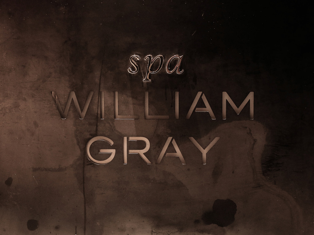 Spa William Gray logo on a wall